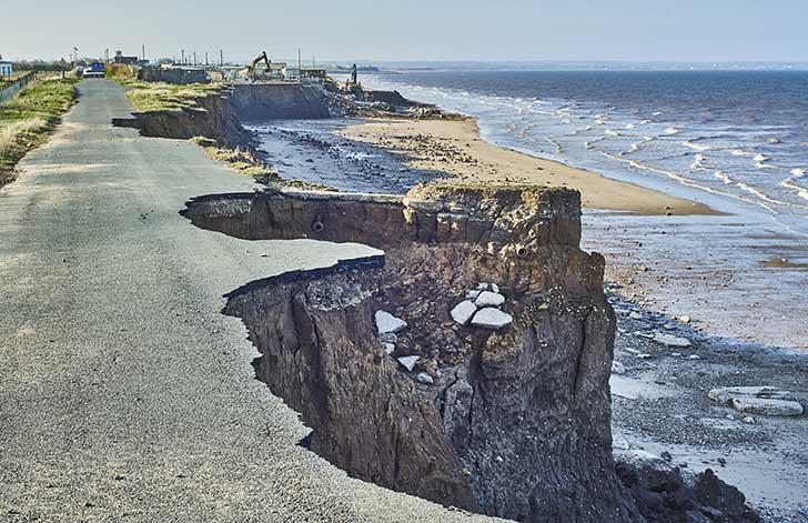Du fait du changement climatique la mont�e des eaux menace les estuaires