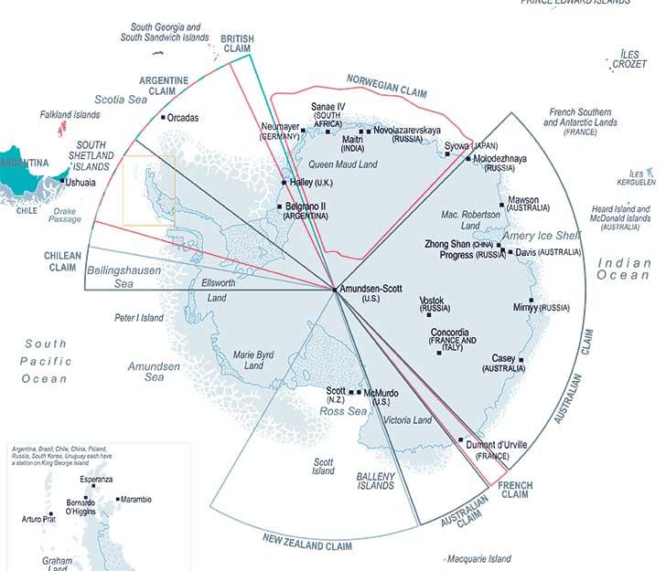 L�Antarctique devient un centre d�int�r�t pour les grandes nations