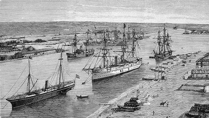 Le canal de Suez est une voie de communication stratégique entre l'Europe et l'Asie