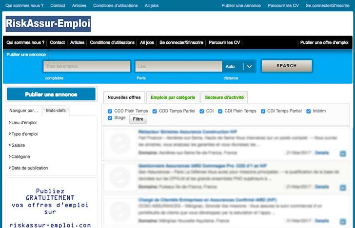 Publiez gratuitement vos offres d�emploi sur riskassur-emploi.com