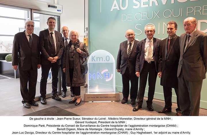 La MNH c�l�bre ses 60 ans en inaugurant la borne KM 0 � Montargis
