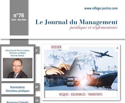 Le Village de la justice : numéro hors-série sur les acteurs du droit des assurances, risques, transport et France