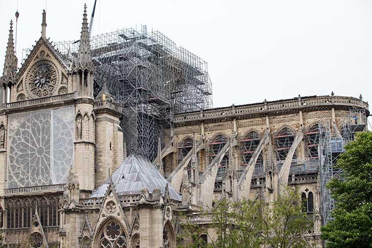 Notre Dame de Paris : pollution au plomb