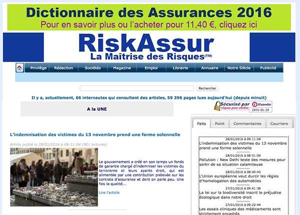 3 formats d'insertion de publicités sur le site https://www.riskassur-hebdo.com