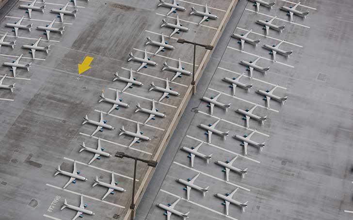 Covid-19 : les avions sont immobilisés un peu partout où il y a de la place
