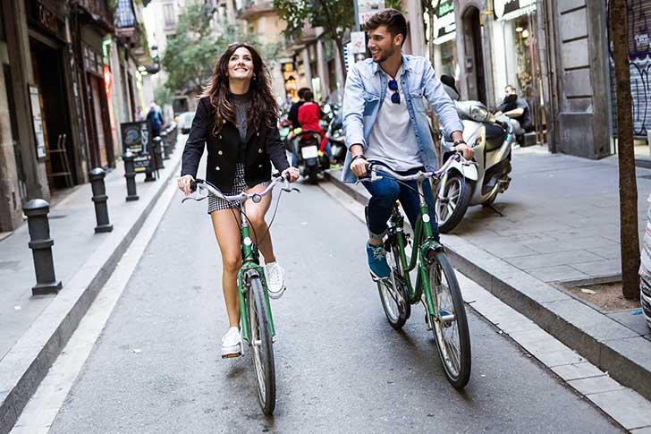 Les villes se pr�parent � passer de la circulation automobile � celle des bicyclettes
